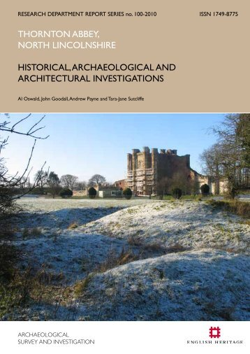 Historical, Archaeological and Architectural ... - English Heritage
