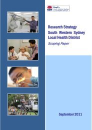 Draft Scoping Paper - South Western Sydney Local Health District ...