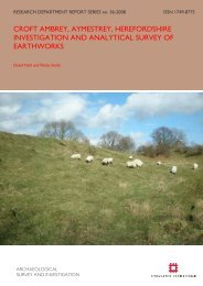 CROFT AMBREY, AYMESTREY ... - English Heritage