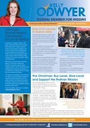 Higgins Community Newsletter - Kelly O'Dwyer