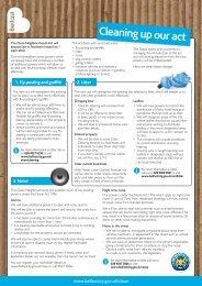 Cleaner Neighbourhoods Fact Sheet - Belfast City Centre ...