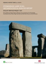 Stonehenge Laser Scan: Archaeological Analysis ... - English Heritage