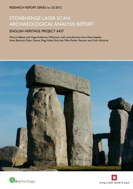 Stonehenge Laser Scan: Archaeological Analysis ... - English Heritage