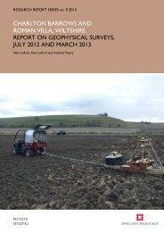Report on Geophysical Survey, July 2012 - English Heritage