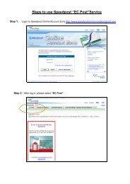 "Steps to use Speedpost ""EC Post""Service"