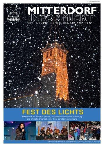 FEST DES LICHTS - Mitterdorf im Mürztal