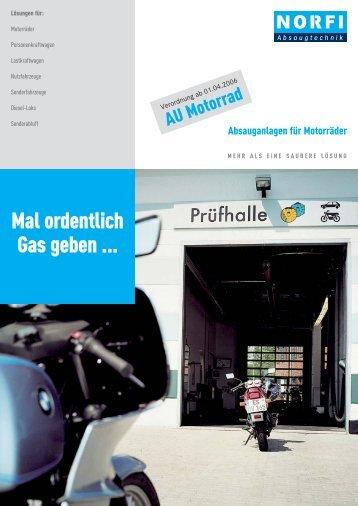 Ohne Absauganlage können Motorrad - Norfi-Absaugtechnik GmbH