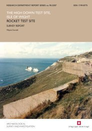 THE HIGH DOWN TEST SITE, ISLE OF WIGHT ... - English Heritage