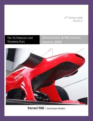 Aerodynamic & Mechanical Updates 2009 - F1-Forecast
