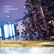 christmas parties - Guoman Hotels