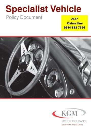 Specialist Vehicle Kgm Motor Insurance