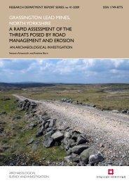 grassington lead mines, north yorkshire a rapid ... - English Heritage