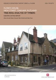 flore's house, high street, oakham, rutland tree ... - English Heritage