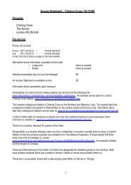 Access Statement – Charing Cross (16.10.09 ... - Guoman Hotels
