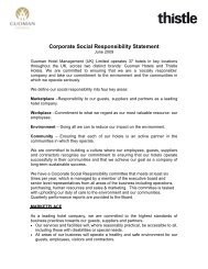 Corporate Social Responsibility Statement - Guoman Hotels