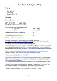 Access Statement – Charing Cross (1.4.11 ... - Guoman Hotels