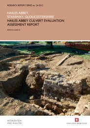 RD Report - English Heritage