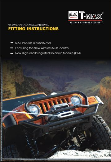 FITTING INSTRUCTIONS - Westin Automotive