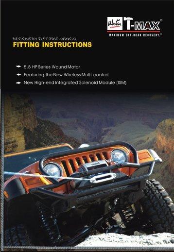 FITTING INSTRUCTIONS - Westin Automotive