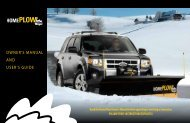 OWNER'S MANUAL ANd USER'S gUidE - Home Plow by Meyer