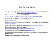 Parts Sources - Healey 6 Home Page