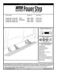 PowerStep - Dodge Ram Mega Cab - 2006-2009 ... - RealTruck.com