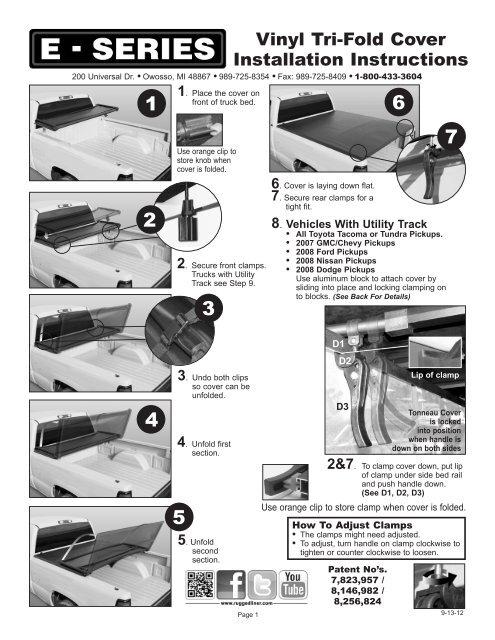 Vinyl Tri Fold Cover Installation Instructions Rugged Liner