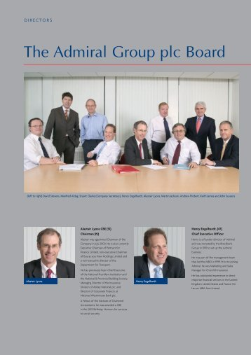 The Admiral Group plc Board