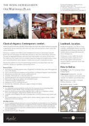 The Royal Horseguards Hotel Factsheet - Guoman Hotels