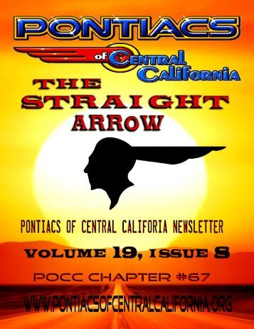 \ PONTIACS of CENTRAL CALIFORNIA august 2012 NEWSLETTER