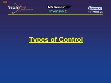 2- Types of Control - SatchNet Electronic Systems