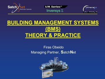 Lecture 1: Introduction to HVAC - SatchNet Electronic Systems