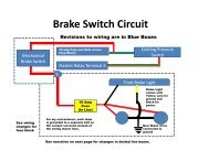 Brake Switch Circuit - Healey 6 Home Page
