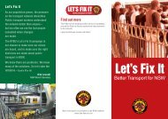 Lets Fix It Brochure - Rail, Tram and Bus Union of NSW