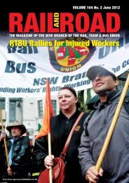 RTBU Rallies for Injured Workers - Rail, Tram and Bus Union of NSW