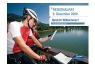 REGIONALRAT 9. Dezember 2009 - SalzburgerLand Netoffice