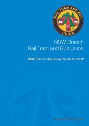 Operating and Concise Report 2012 - Rail, Tram and Bus Union of ...