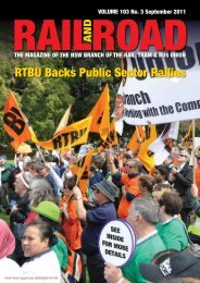 RTBU Backs Public Sector Rallies - Rail, Tram and Bus Union of NSW