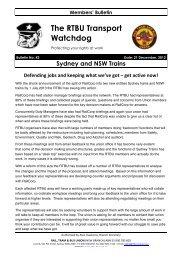Transport Watchdog Bulletin 43 - Rail, Tram and Bus Union of NSW