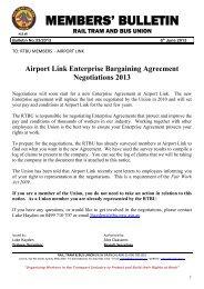 Airport Link Enterprise Bargaining Agreement Negotiations 2013