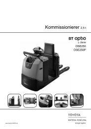 Niederhub-Kommissionierer Optio OSE250(P) - Toyota Material ...