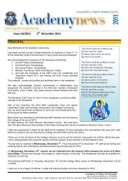 PRINCIPAL Issue 19/2011 5 December 2011 - Academy of Mary ...