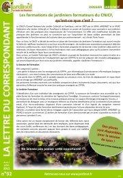 Le CNJCF (Conseil National des Jardins Collectifs et Familiaux, créé