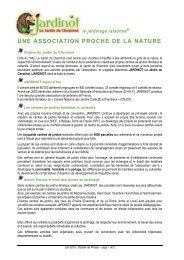 une association proche de la nature - Jardinot - Le jardin du cheminot