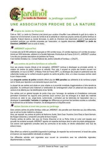 Le cnjcf conseil national des jardins collectifs et - Conseil national des parcs et jardins ...