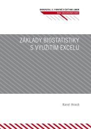 Základy biostatistiky s využitím Excelu - pokrok - UJEP