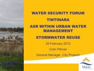 ASR within Urban Water Management & Stormwater Reuse - C Pitman