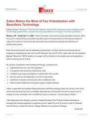 Esker Makes the Most of Fax Virtualization with Boardless Technology