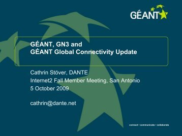 Networking Activities - Géant
