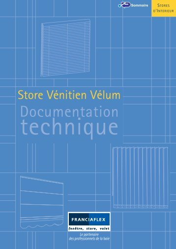 Store vénitien Velum Franciaflex - Conseils sur les stores